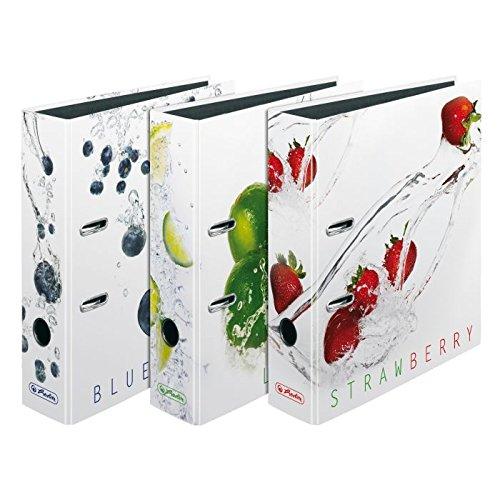 3 verschiedene Herlitz Motivordner Fresh Fruit max.file/DIN A4/80mm breit