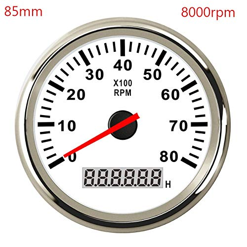 Velocímetro cuentakilómetros 52mm / 85mm Barco Marina tacómetro coche Tacho LCD del...