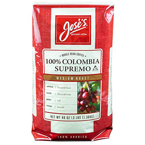Jose's Whole Bean Coffee Columbia Supremo Value 4 Pack ( 3 Lbs Each)