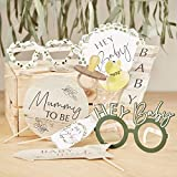Fun Baby Shower Games Ideas, Photo Booth Props Party Games, Hey Baby Mom to Be Photo Props, Pack of 10 Props