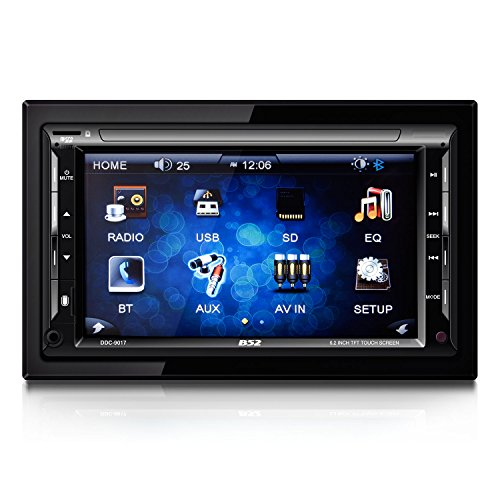 "B52CarAudio DDC-9017 In-Dash DVD Receiver with 6.2"" TFT Touchscreen Display, Bluetooth Connectivity and SD/USB Receiver"