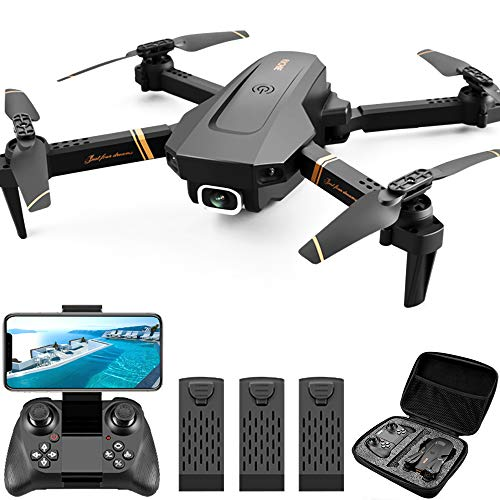 4DRC Drone 1080P High Definition HD Camera Less Than 7.1 oz (200 g) WI-FI FPV Real Time Aerial Photography with Storage Case 3 Batteries and 54 Minutes Flight Time for Beginners, Small Folding Drone, Headless Mode, 3D Flip, Altitude Maintenance, Japanese Instruction Manual 2.4 GHz, Domestic Certified