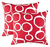 TreeWool (Pack of 2 Decorative Throw Pillow Covers Ringo Accent 100% Cotton Cushion Shams Cases (16...