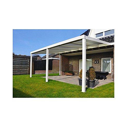 Terrassen Überdachung Aluminium 700 x 350 cm mit Polycarbonat Stegplatten 16 mm Dacheindeckung Terrassenüberdachung