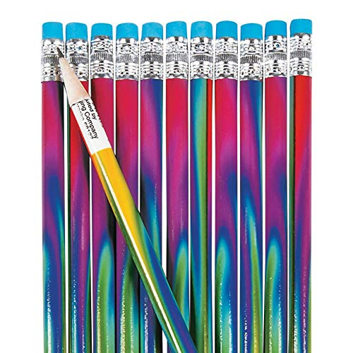 Fun Express Tie Dye Pencils (2Dz) - 24 Pieces - Educational and Learning Activities for Kids