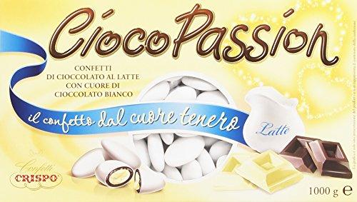 Crispo Confetti Cioco Passion Cioccolato al Latte con Cuore di Cioccolato Bianco - Colore Bianco - 1kg