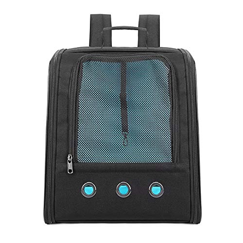 HUANGRONG Pet Carrier Backpack Transparent Window Cat Carrier Breathable Anti-Scratch Mesh Travel Cat Bag Pet Backpack for Small Dog Black