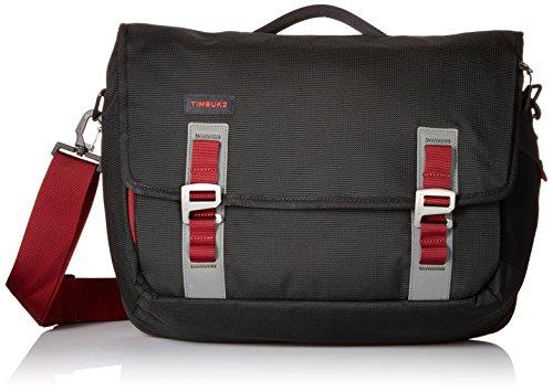 Timbuk2 Command Travel-Friendly Messenger Bag, Black/Red Devil, Medium