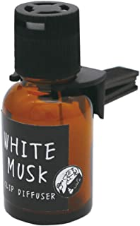 ノルコーポレーション John's Blend 車用芳香剤 クリップディフューザー OA-JON-20-1 ホワイトムスクの香り 18ml