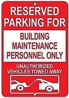 建物のメンテナンス担当者用の予約済み駐車場のみアルミニウムメタルサイン
