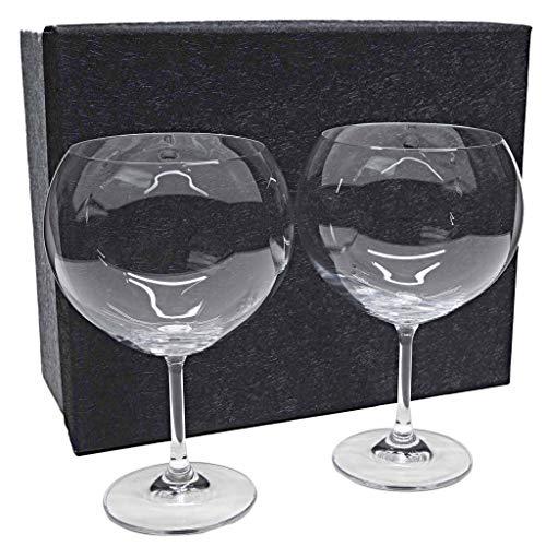 la galaica | Set de 2 Copas de Cristal para Gintonic - Colección Gin Tonic | Regalos Ideales para Bodas, Aniversarios y Cumpleaños | Regalos Originales