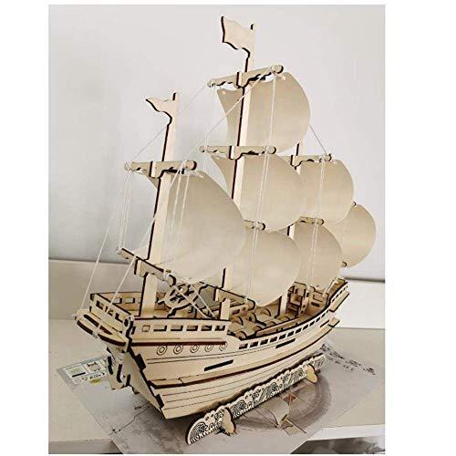 1yess Segelschiff Boot Papiermodell Montage Handgemachte Puzzle Game DIY Kinder