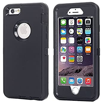 AICase iPhone 8 Plus/7 Plus Case [Heavy Duty] [Full Body] Tough 3 in 1 Rugged Shockproof Water-Resistance Cover for Apple iPhone 8 Plus/7 Plus  Black