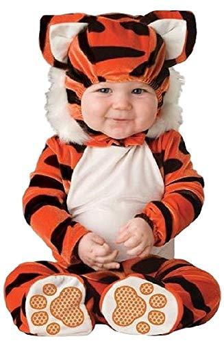 De Bébé Garçons Filles Tigre Long Livre de la Jungle Jour Halloween en Personnage Costume Déguisement - Orange, 6-12 Months