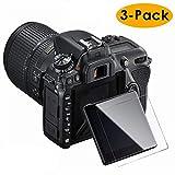 KIMILAR Pantalla Compatible con Nikon D7500 Protector Pantalla, (3 Pack) Screen Protector de Cristal Templado Pelicula Protectora - [Dureza 9H] [Burbuja-libre] [Instalación fácil]