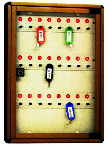Alubox Pinnwand Schlüssel cm 30 x 5 x 40-24 Plätze/Bronze