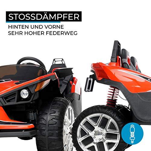 RC Auto kaufen Kinderauto Bild 4: Actionbikes Motors Kinder Elektroauto GT Super Speed JC888 – 4x40 Watt Motor – 2-Sitzer - Eva Reifen – Allrad – Kinderauto (Rot)*