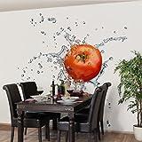 Apalis Vliestapete Küchentapete Frische Tomate Fototapete Quadrat | Vlies Tapete Wandtapete Wandbild Foto 3D Fototapete für Schlafzimmer Wohnzimmer Küche | Größe: 192x192 cm, rot, 97680