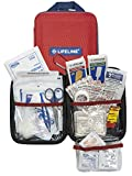 Lifeline 85 Piece First Aid Emergency Kit - Small and Compact Size - Ideal for camping, sporting events, hiking, cycling, car as well as home, school and office