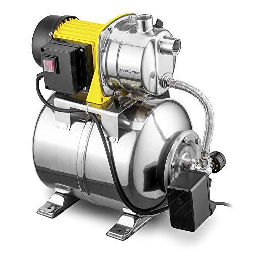 TROTEC Hauswasserwerk TGP 1025 ES ES in Edelstahlausführung Gartenpumpe Wasserwerk Wasserpumpe 3.300 l/h Förderleistung 1.000 Watt Leistung