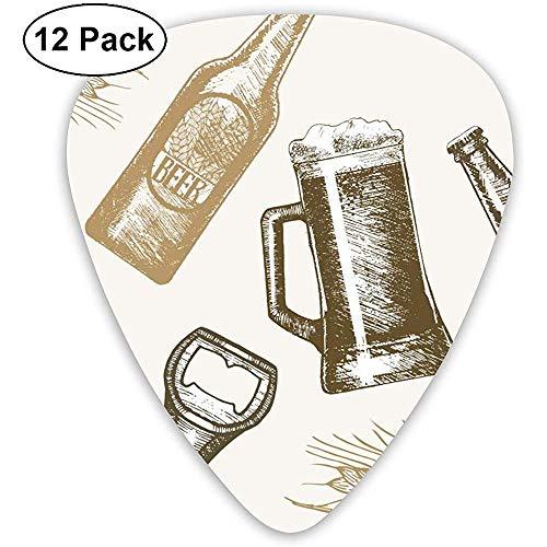 Gitarren-Auswahl-Klassiker wählt die besonders angefertigte Skizze des Bier-Handabgehobenen betrages aus