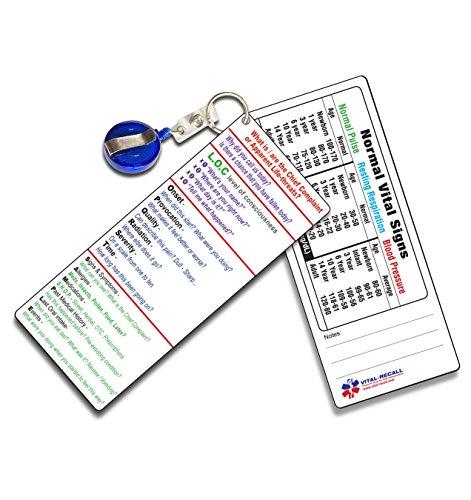 EMT PT Assessment Pocket Sheet - - 2 Identical Cards per Package
