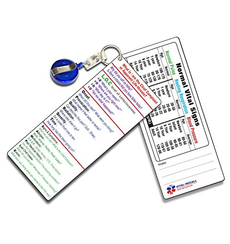 EMT PT Assessment Pocket Sheet - - 2 Identical Cards per Package