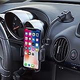 Mpow Support Téléphone Voiture pour Tableau de Bord Pare-Brise, Ventouse Forte en Gel Collant, Design à Une Touche, Compatible avec l'iPhone 11pro XS Max XS XR Galaxy S10 S9 Huawei Xiaomi GPS etc