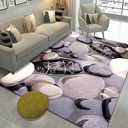 RUGMRZ Manta Juegos Bebe Piedra 3D Visual Living Sala de Estar Alfombra Grande Té táctil Peludo Corto Varios Techo alfombras Lavables Lavable y fácil de cuidar. Esterilla ni140X200CM/4ft 7''X6ft 7''