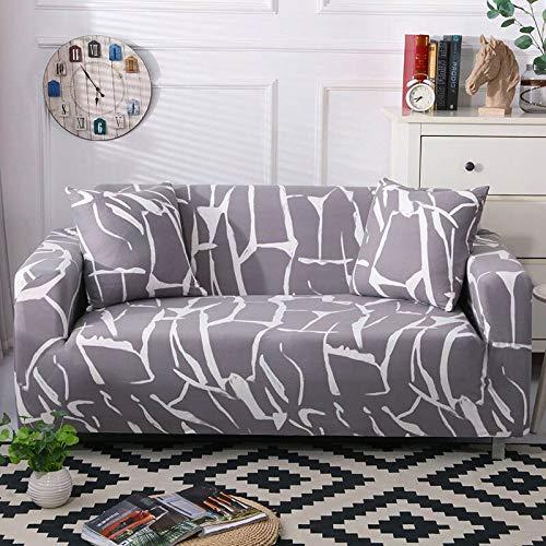 WXQY Funda elástica para sofá, Funda elástica para sofá Moderna, Funda para sofá de Sala de Estar, Funda para Silla, Funda para Muebles, sillón A23 de 4 plazas