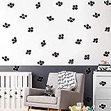 Adhesivo mural de punto negro irregulares, diseño geométrico minimalista para sala de clase, dormitorio, salón, habitación de los niños, bricolaje, pared, decoración (240 cuadros)