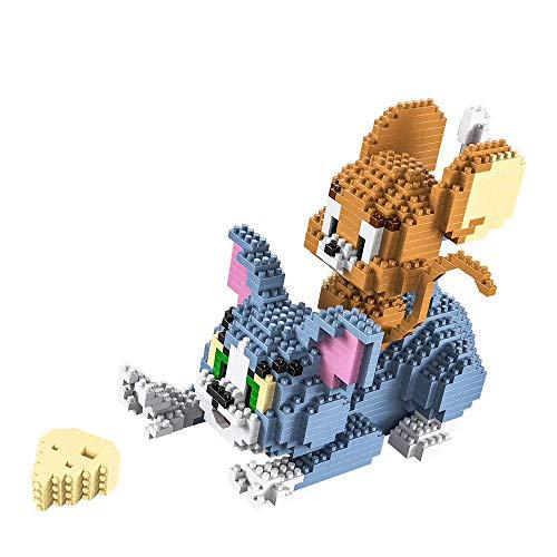 RSVT 1524 PCS Diamant Building Blocks, Chat Et Souris Jeu, Classique Anime Cartoon Tom Et Jerry, Modèle Mini Bricks Parent-Enfant Interactiontoys pour Cadeau