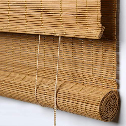 Amazon Com Passenger Pigeon Bamboo Outdoor Roller Shades Water Proof Uv Protection Light Filtering Roll Up Blinds With Valance 70 W X 36 L Camel Home Kitchen