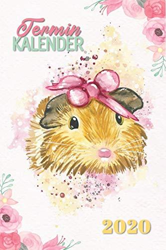 Terminkalender 2020: Meeschweinchen Kalender 2020 - Dein Hamster Taschenkalender mit Wochenplaner und Monatskalender 1 Woche 2 Seiten, To Do Listen, ... Zubehör Geschenk (Schreibwaren, Band 2)