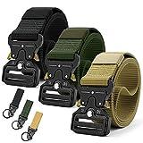 Doopai 3 Pack Tactical Belt,Quick Release Military Belt,Riggers Belts for Men