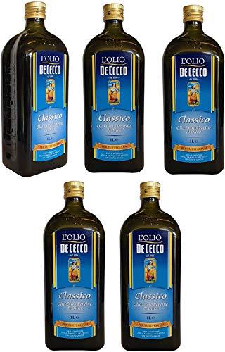 6x De Cecco Classico Natives Olivenöl Extra Olio Extra Vergine 1 Lt nativ