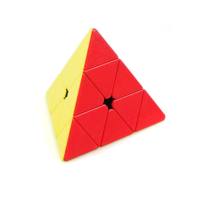 スティック調和のとれた熟練したQiyuezhuangshi ルービックキューブ、高品質のプラスチック材料で作られた、贈り物として適した、ピラミッドスタイルの3次キューブ ファッション (Edition : Pyramid third-order)