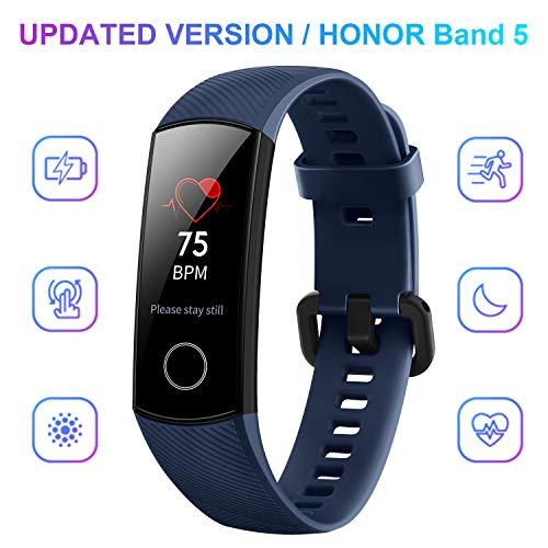 HONOR Band 5 Smartwatch, Pulsera Actividad Inteligente Impermeable IP68 con Pulsómetro, Monitor de Actividad Deportiva, Fitness Tracker con Podómetro, Azul
