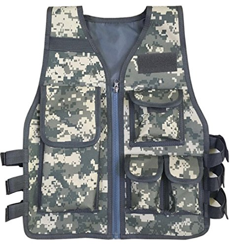 JOKHOO Kids Army Camouflage Outdoor Combat Vest (ACU Color,8-14 Year)