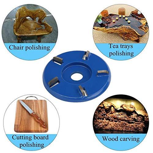Holzschneidscheibe Legierter Stahl Einfach zu verwendende, praktische Schnitzklinge zum Schnitzen und Polieren(blue)