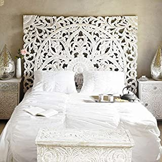 indian carved wooden beds