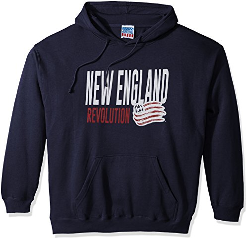 Junk Food MLS New England Revolution Men's Long Sleeve Pullover Hoodie, Navy, X-Large