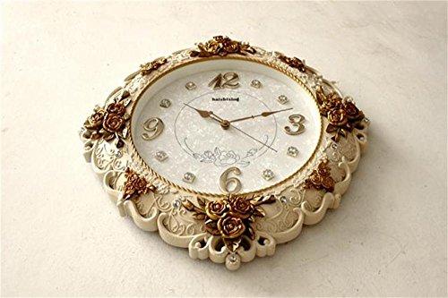ZfgG Continental mute woonkamer muur klok opknoping tafel horloge barokke creatieve pastorale retro decoratieve wandklok