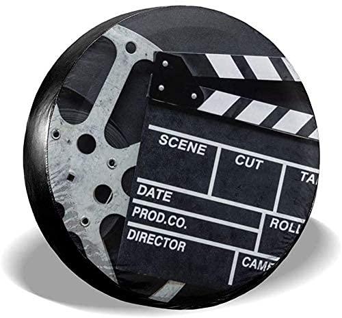 Lewiuzr La Cubierta de neumático de Repuesto Impermeable Negra de la tablilla de la película clásica se Adapta al Ajuste Universal