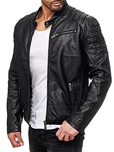 Red Bridge Hombres Chaqueta Cuero Sintético Casuales Mode Transición Leather Jacket