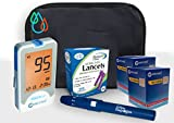 Raindrop USA - Clever Choice Voice HD Blood Glucose Monitor Kit (100 Test Strips, 100 Lancets)