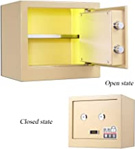 Mechanical Safe Box Lock Safe with Key Dabinet Safe Gold All-Steel Safety Storage Box for Jewelry Money for Home Office Hotel