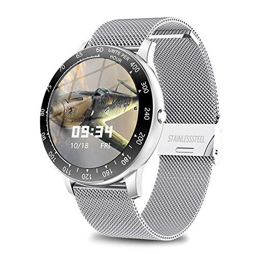 Volledig Touch Heren Slim Horloge Is Geschikt Voor Android Smart Horloges Mannen En Vrouwen, Waterdichte Sport-Fitness Activiteit Hartslag Tracker,E