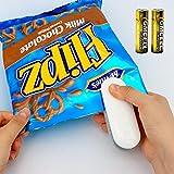 JTENG Mini sellador, Mini Bag Sealer, Mini Sellador Térmico Portátil de la Mano Sealer para Sellar Bolsas (2 Baterías)