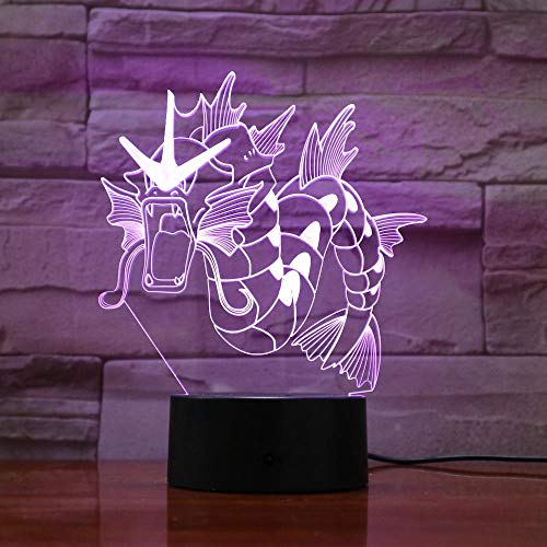 3D Illusionslampe Führte Nachtlicht Pokemon Zeichnung Bunte Indoor Kinder Kostüm Geschenk Für Die Dekoration Für Ein Kinderzimmer